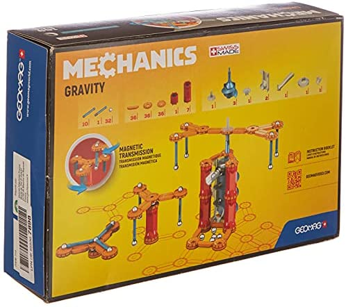 51NaoyDFN+S. AC  - Geomag - MECHANICS GRAVITY MOTOR - 168-Piece Building Set with Magnetic Motion, Certified STEM Marble Run Construction Toy for Ages 7 and Up