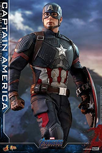 51Nef8eunAL. AC  - Hot Toys Movie Masterpiece Series MMS536 Captain America Avengers: Endgame End Game Sixth Scale 1/6 (2021) Collectible Chris Evans Action Figure