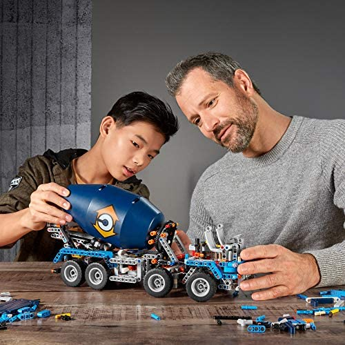 51O8aWR1xRL. AC  - LEGO Technic Concrete Mixer Truck 42112 Building Kit, Kids Will Love Bringing The Construction Site to Life with This Cool Concrete Truck Toy Model Set (1,163 Pieces)