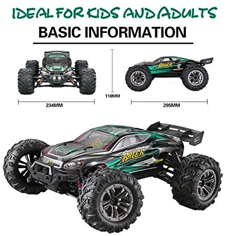51OUwAGNX2L. AC  - MIEBELY RC Cars 1: 16 Scale All Terrain 4x4 Remote Control Car for Adults & Kids, 40+ KM/H Waterproof Off-Road RC Trucks, High Speed Electronic Cars, 2.4Ghz Radio Controller, 2 Batteries, 2 Car Bodies