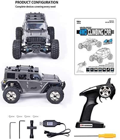 51OdENVLWWL. AC  - Jeep Rc Cars Off Road 4wd - Roterdon Rc Truck 1/14 Remote Control Car Cross-Country Monster Crawler Kids 35KM/H High Speed 2.4GHz Racing Vehicle Radio Control Toys for Boys Kids