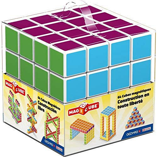 51OlktCnUOL. AC  - Geomag Magicube Kids Free Building 64 Construction Toy Set