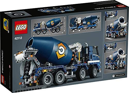 51PQ4ZcUXLL. AC  - LEGO Technic Concrete Mixer Truck 42112 Building Kit, Kids Will Love Bringing The Construction Site to Life with This Cool Concrete Truck Toy Model Set (1,163 Pieces)