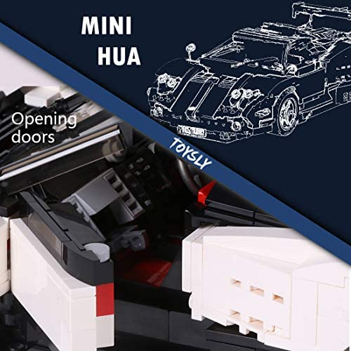 51PsHWu1opL. AC  - TOYSLY Mini Sports Car Zoda MOC Building Blocks and Construction Toy, Adult Collectible Model Cars Set to Build, 1:14 Scale Race Car Model (960 Pcs)
