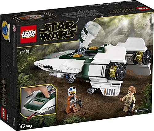 51Q3DIAEtfL. AC  - LEGO Star Wars: The Rise of Skywalker Resistance A Wing Starfighter 75248 Advanced Collectible Starship Model Building Kit (269 Pieces)