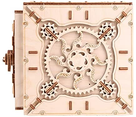 51QIBp+AEfS. AC  - VVIHT G606 3D Assembly Wooden Puzzle DIY Crafts Kit Fun Creative DIY Toy Treasure Box Brain Teaser Mechanical Engineering Model Building Kit
