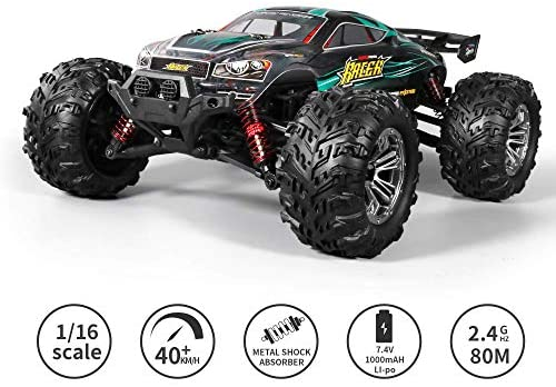 51Qg9dCewtL. AC  - MIEBELY RC Cars 1: 16 Scale All Terrain 4x4 Remote Control Car for Adults & Kids, 40+ KM/H Waterproof Off-Road RC Trucks, High Speed Electronic Cars, 2.4Ghz Radio Controller, 2 Batteries, 2 Car Bodies