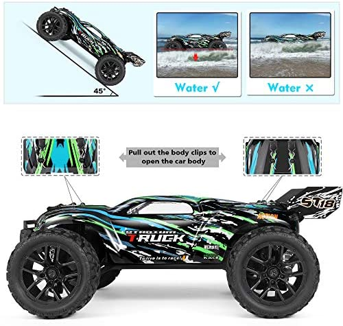 51R R8ZdW8L. AC  - HAIBOXING RC Cars Hailstorm, 1:18 Scale 4WD High Speed 36+ km/h Remote Control Car Off Road Monster RC Truck with 2 Batteries 40 mins Play, Waterproof RC Toys Truggy Gifts for Kids and Adult