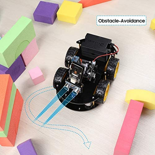 51RQZs97zIL. AC  - ELEGOO UNO R3 Project Smart Robot Car Kit V4.0 with UNO R3, Line Tracking Module, IR Remote Control Module etc. Intelligent and Educational Toy Car Robotic Kit Compatible with Arduino Learner
