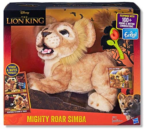 51Rq6ncogeL. AC  - Hasbro Disney The Lion King Mighty Roar Simba Interactive Plush Toy, Brought to Life by Furreal, 100+ Sound &-Motion Combinations, Ages 4 & Up