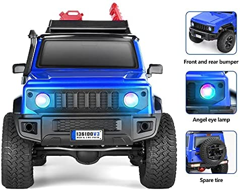 51S gYYteFS. AC  - RGT RC Crawler 1:10 4wd Crawler Off Road Rock Cruiser RC-4 136100V3 4x4 Waterproof Hobby RC Car Toy for Adults (Blue)