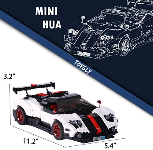 51S90mECPLL. AC  - TOYSLY Mini Sports Car Zoda MOC Building Blocks and Construction Toy, Adult Collectible Model Cars Set to Build, 1:14 Scale Race Car Model (960 Pcs)
