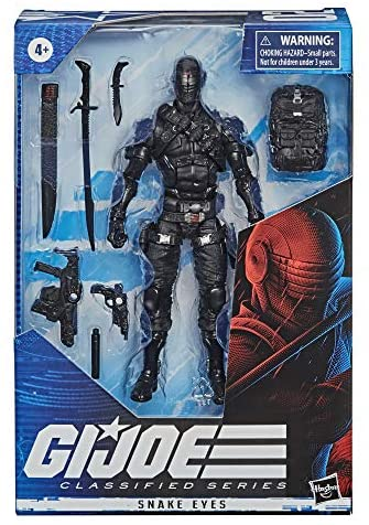 51T0xFgD+BL. AC  - G.I. Joe Classified Series Snake Eyes Action Figure 02 Collectible Premium Toy with Multiple Accessories 6-Inch Scale with Custom Package Art