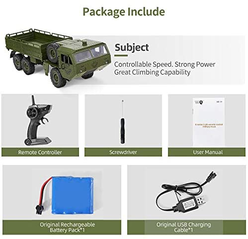 51T6F1xbYXL. AC  - RC Cars, Remote Control Army Car with Transport Function 6WD Off-Road Truck All Terrains Electric Toy Waterproof RC Toy for Adult Boys Girls