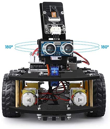51TTr1gPT8L. AC  - ELEGOO UNO R3 Project Smart Robot Car Kit V4.0 with UNO R3, Line Tracking Module, IR Remote Control Module etc. Intelligent and Educational Toy Car Robotic Kit Compatible with Arduino Learner