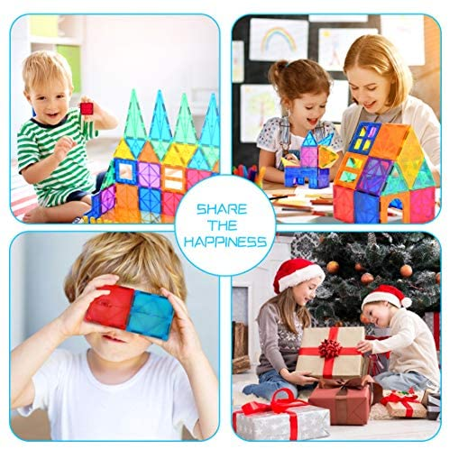 51TeveoGTzL. AC  - Magnetic Building Blocks Game Toy, 75 Pcs 3D Magnetic Tiles Construction Playboards Kit Develop Kids Imagination, Inspiration and Fine Motor Skills in Children Educational Toys for Age 3 - 8 Year-Old