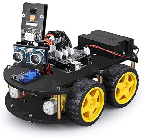 51URrye+syL. AC  - ELEGOO UNO R3 Project Smart Robot Car Kit V4.0 with UNO R3, Line Tracking Module, IR Remote Control Module etc. Intelligent and Educational Toy Car Robotic Kit Compatible with Arduino Learner