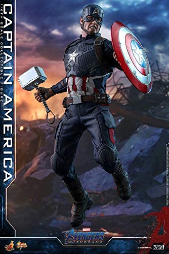 51UkZmBeUsL. AC  - Hot Toys Movie Masterpiece Series MMS536 Captain America Avengers: Endgame End Game Sixth Scale 1/6 (2021) Collectible Chris Evans Action Figure
