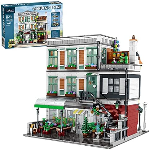 51V+zDE1mqS. AC  - PHYNEDI Street View Center Flower Shop Garden Centre Bricks Model Compatible with Lego, DIY Large Architecture Educational Building Block Assembly Small Particle Construction Toy (3,648 Pieces)