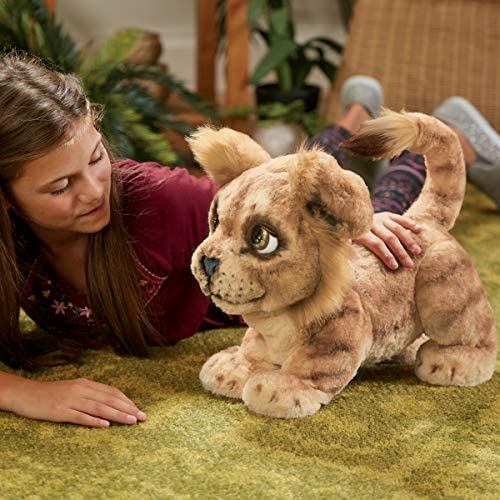 51V3onn+uZL. AC  - Hasbro Disney The Lion King Mighty Roar Simba Interactive Plush Toy, Brought to Life by Furreal, 100+ Sound &-Motion Combinations, Ages 4 & Up
