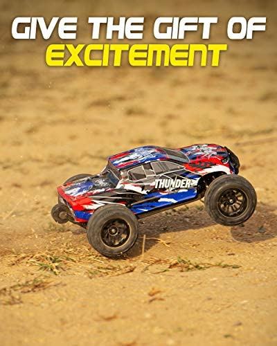 51Vi UFj0xL. AC  - 1:10 Scale Brushless RC Cars 65 km/h Speed - Boys Remote Control Car 4x4 Off Road Monster Truck Electric - All Terrain Waterproof Toys for Kids and Adults - 2 Body Shells + Connector for 30+ Mins Play