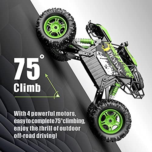 51VjkxYKE9S. AC  - DEVIVAE RC Cars 2059 Remote Control Car for Adults Kids, 1:12 Scale 15Km/h All Terrain Monster Trucks 4WD Off-Road 2.4GHz Rock Crawler with 80Mins Play, Vehicle Toy Ideal Gift for 6 7 8 9 10 Boy Girl