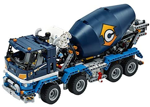 51WjZwrYBCL. AC  - LEGO Technic Concrete Mixer Truck 42112 Building Kit, Kids Will Love Bringing The Construction Site to Life with This Cool Concrete Truck Toy Model Set (1,163 Pieces)