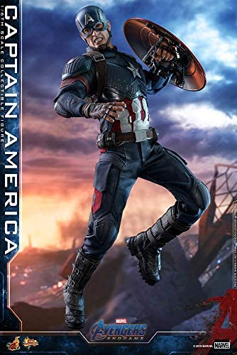 51X3xHObKoL. AC  - Hot Toys Movie Masterpiece Series MMS536 Captain America Avengers: Endgame End Game Sixth Scale 1/6 (2021) Collectible Chris Evans Action Figure