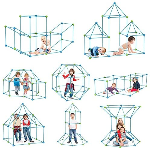 51XBMkTncxS. AC  - IROO Kids Fort Building Kit-150 Pieces DIY Building Castles Tents & Tunnels Toy with Blanket for Boys Girls-5 6 7 8 9 10 11 12 13-Portable Educational Learning Set for Indoor Outdoor Play