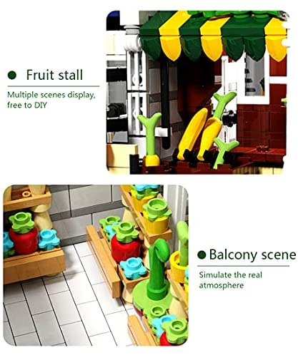 51XjBWEtjzS. AC  - PHYNEDI Street View Center Flower Shop Garden Centre Bricks Model Compatible with Lego, DIY Large Architecture Educational Building Block Assembly Small Particle Construction Toy (3,648 Pieces)