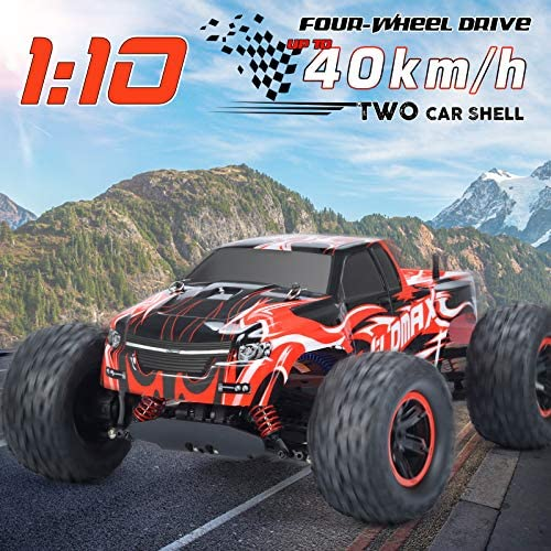 51YspsNy9hL. AC  - NQD 1:10 Off Road RC Truck, 40+KM/H Remote Control Car, All Terrain Waterproof High Speed Remote Control Monster Truck, 4WD 2.4Ghz RC Cars for Kids & Adults Gifts