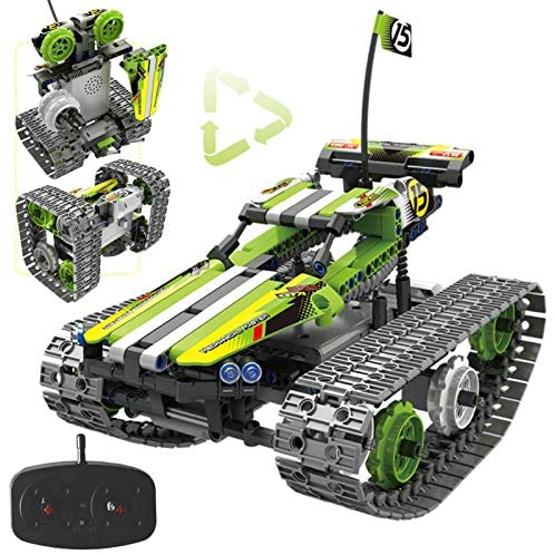 51Z9ey5U+YL. AC  - Remote Control Car Building Kit - RC Tracked Racer 3 in 1 Building Set, Fun, Educational, Learning, STEM Toys, Best Gift for Kids Age 8-12, 14 Year Old Boys and Girls (353pcs)