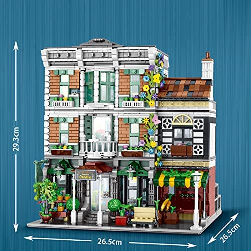 51ZAyGLKCDS. AC  - PHYNEDI Street View Center Flower Shop Garden Centre Bricks Model Compatible with Lego, DIY Large Architecture Educational Building Block Assembly Small Particle Construction Toy (3,648 Pieces)