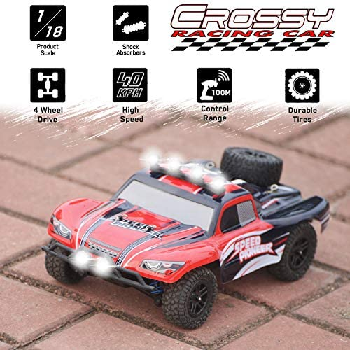 51ZDf5iTm L. AC  - VOLANTEXRC 1:18 Scale All Terrain RC Car 40 KM/H High Speed 4WD RC Truck with 2.4 GHz Remote Control Off Road RC Monster Vehicle Truck Crawler with Two Rechargeable Batteries for Boys Kids and Adults