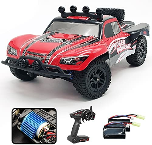 51ZqLQXkCaS. AC  - VOLANTEXRC 1:18 Scale All Terrain RC Car 40 KM/H High Speed 4WD RC Truck with 2.4 GHz Remote Control Off Road RC Monster Vehicle Truck Crawler with Two Rechargeable Batteries for Boys Kids and Adults