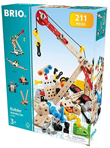 51amHoR1 WS. AC  - Brio Builder 34588 - Builder Activity Set - 211 Piece Building Set STEM Toy with Wood and Plastic Piecesfor Kids Ages 3 and Up (63458800)