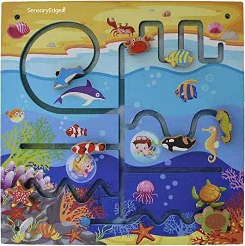 51bZBdjp20L. AC  - Ocean Adventure Wall Toy Activity Center – Sensory Busy Board for Fine Motor Skills - Mounted Wall Decor for Toddlers & Kids Bedrooms, Playrooms, Doctor's Offices & Daycare - Gift for Boys & Girls