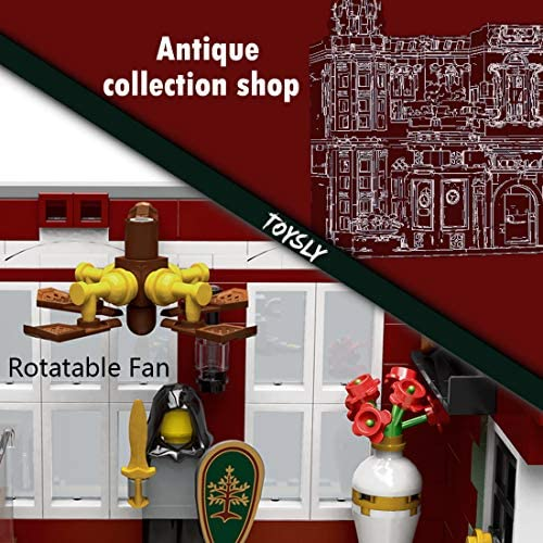 51d03AD7h L. AC  - TOYSLY Street Antique Collection Shop MOC Building Blocks and Engineering Toy, Construction Set to Build, Model Set and Assembly Toy for Teens and Adult 3037 Pieces