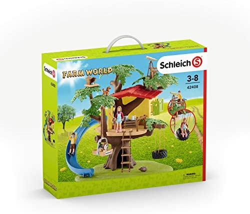51dmGgt9WAL. AC  - Schleich Farm World Adventure Tree House 28-piece Farm Playset for Kids Ages 3-8