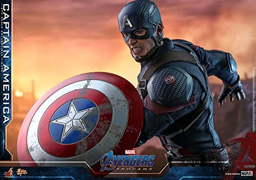 51dpX9qkEhL. AC  - Hot Toys Movie Masterpiece Series MMS536 Captain America Avengers: Endgame End Game Sixth Scale 1/6 (2021) Collectible Chris Evans Action Figure