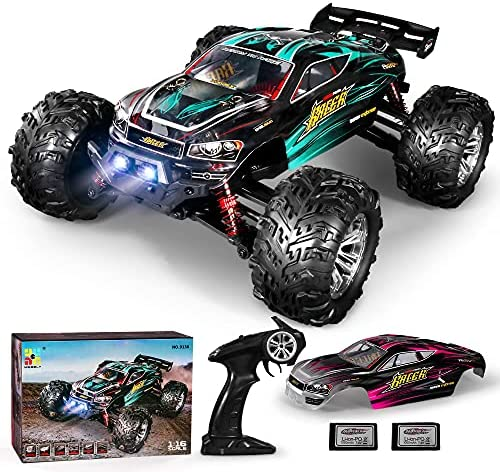 51e0dTLcSHS. AC  - MIEBELY RC Cars 1: 16 Scale All Terrain 4x4 Remote Control Car for Adults & Kids, 40+ KM/H Waterproof Off-Road RC Trucks, High Speed Electronic Cars, 2.4Ghz Radio Controller, 2 Batteries, 2 Car Bodies