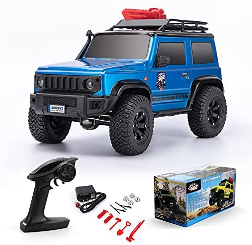 51fRkC3d12S. AC  - RGT RC Crawler 1:10 4wd Crawler Off Road Rock Cruiser RC-4 136100V3 4x4 Waterproof Hobby RC Car Toy for Adults (Blue)