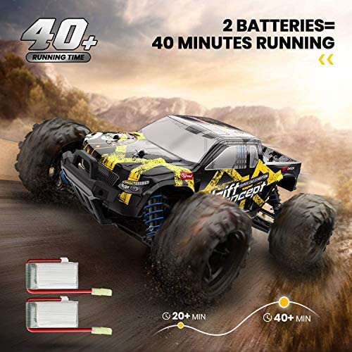 51gUYKLxg5L. AC  - 1/18 RC Cars High Speed Remote Control Car for Adults Kids 30+MPH, 4WD Off-Road RC Monster Truck, Fast 2.4GHz All Terrains Toy Trucks Gifts for Boys, with 2 Rechargeable Batteries for 40Min Play