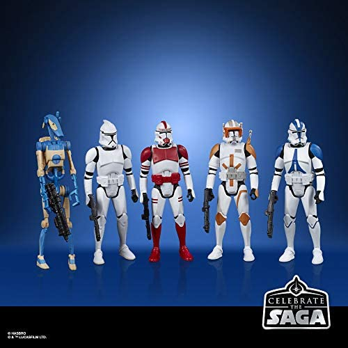 51gzNsOafTL. AC  - Star Wars Celebrate The Saga Toys Galactic Republic Figure Set, 3.75-Inch-Scale Collectible Action Figure 5-Pack for Kids Ages 4 and Up