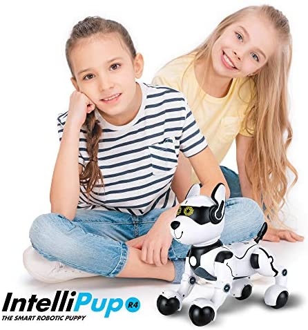 51hlS Q98TL. AC  - Contixo R4 IntelliPup Robot Dog, Walking Pet Toy Robots for Kids, Remote Control, Interactive & Smart Dancing Dance, Voice Commands, RC Dog for Gift Toy for Girls & Boys Ages 2,3,4,5,6,7,8,9,10 Years