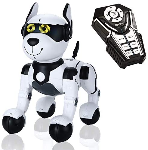 51i4 qhU+DL. AC  - Contixo R4 IntelliPup Robot Dog, Walking Pet Toy Robots for Kids, Remote Control, Interactive & Smart Dancing Dance, Voice Commands, RC Dog for Gift Toy for Girls & Boys Ages 2,3,4,5,6,7,8,9,10 Years