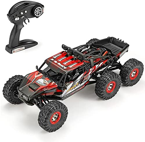 51jKc3Teo5S. AC  - 1:12 Scale Large RC Cars Truck 60+kmh High Speed for Adults and Kids,6x6 2.4GHz Radio Road Monster All Terrain Electric Remote Control Offroad Car with Two Rechargeable Batteries.