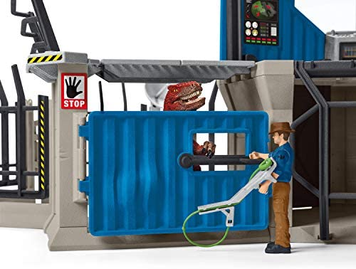 51jkpOCx3GL. AC  - SCHLEICH Toy Dinosaur Research Station 33-Piece Playset for Kids Ages 4-12
