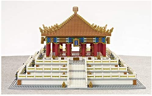 51jrTd0iemL. AC  - XSHION World Famous Architecture Micro Diamond Building Blocks Set, 5866Pcs The Hall of Central Harmony Mini Building Bricks Model Engineering Toy Construction Set Toys Gift for Kids Adults
