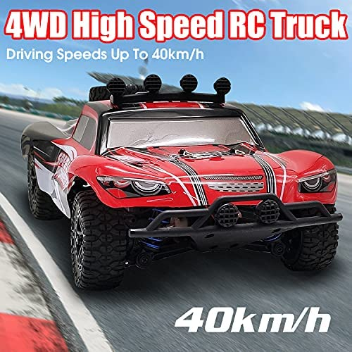 51k+XUAriiS. AC  - VOLANTEXRC 1:18 Scale All Terrain RC Car 40 KM/H High Speed 4WD RC Truck with 2.4 GHz Remote Control Off Road RC Monster Vehicle Truck Crawler with Two Rechargeable Batteries for Boys Kids and Adults